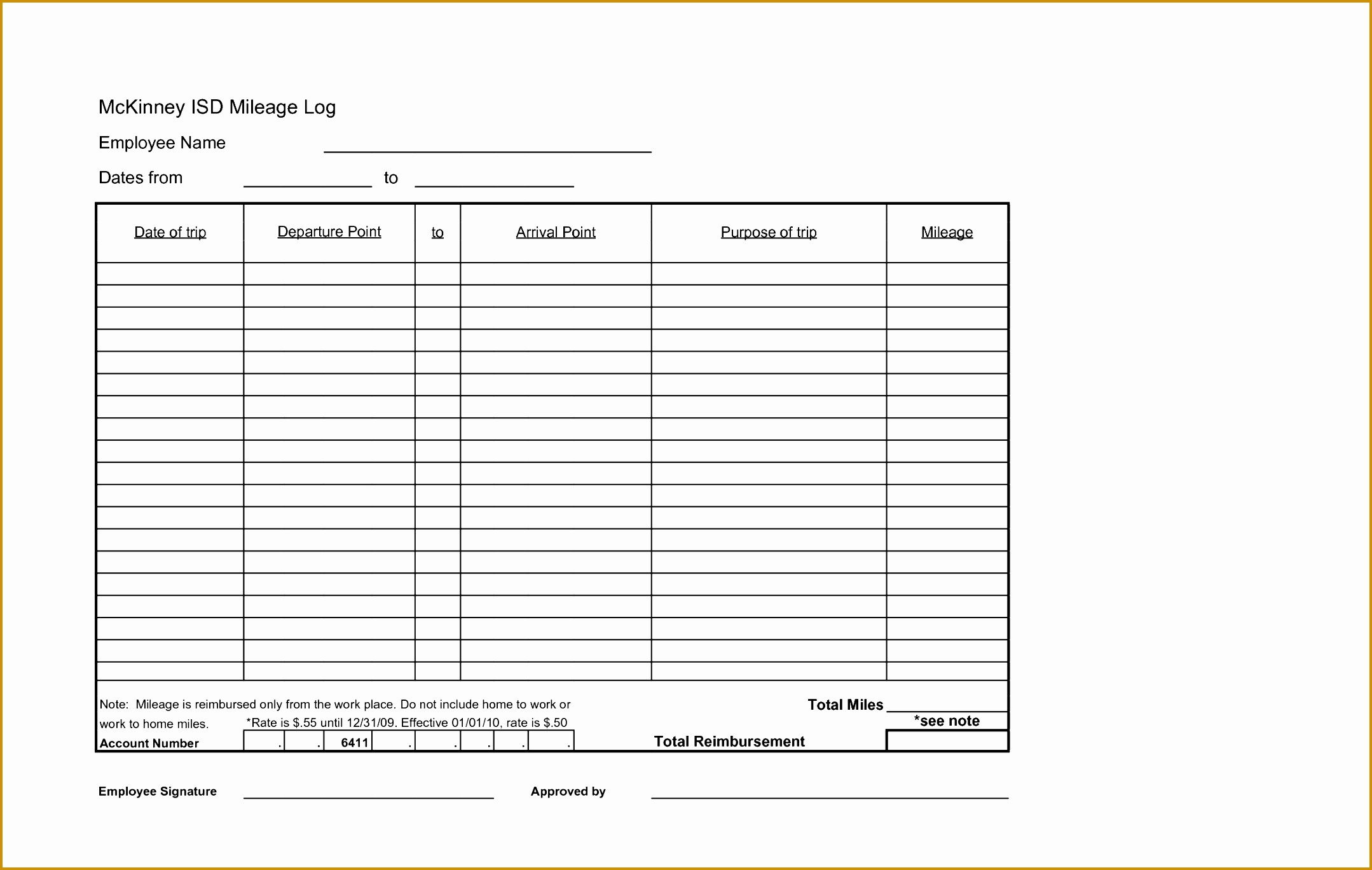 Example Mileage Log for Taxes Luxury 3 Mileage Log Template for Tax