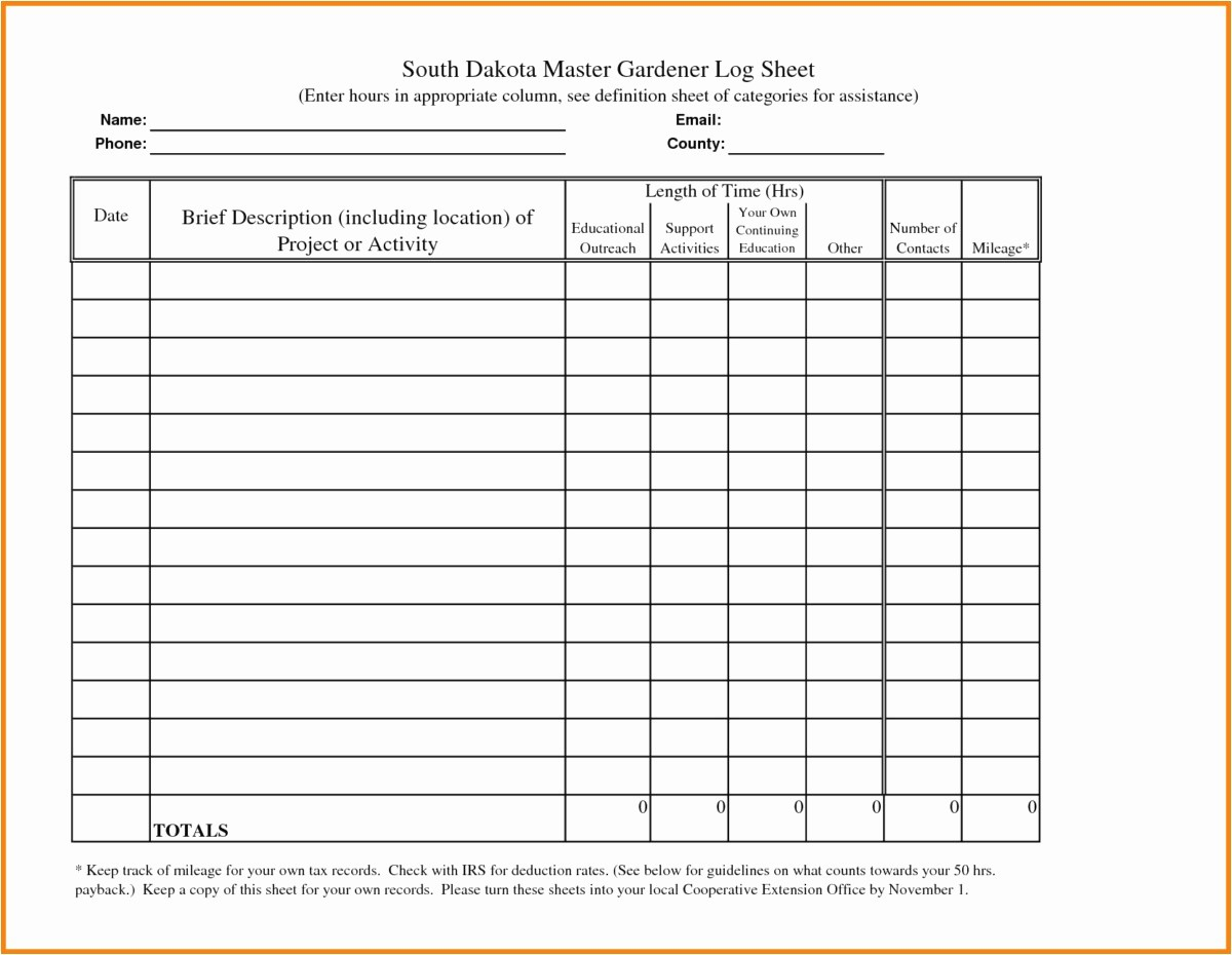 Example Mileage Log for Taxes Luxury 30 Irs Mileage Log Template format