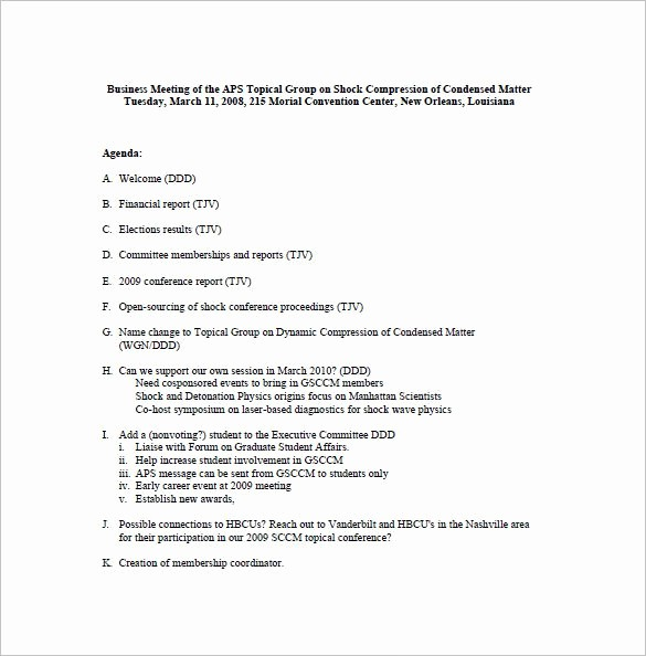 Example Minutes Of Meeting Report Fresh Business Meeting Minutes Template 12 Free Sample