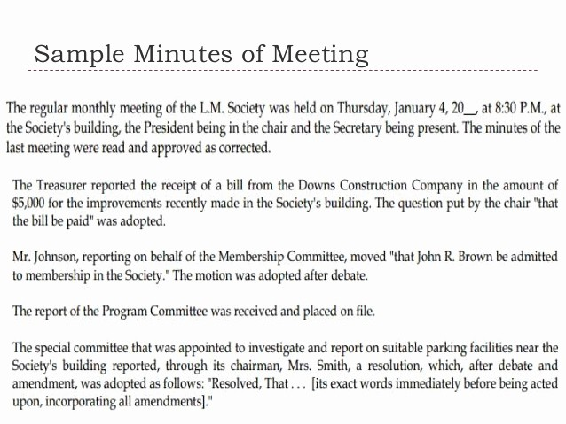 Example Minutes Of Meeting Report New Memo and Minutes Of Meeting