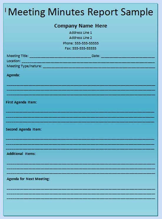 """Example Minutes Of Meeting Report Unique Search Results for """"printable Meeting Minute Sheet"""