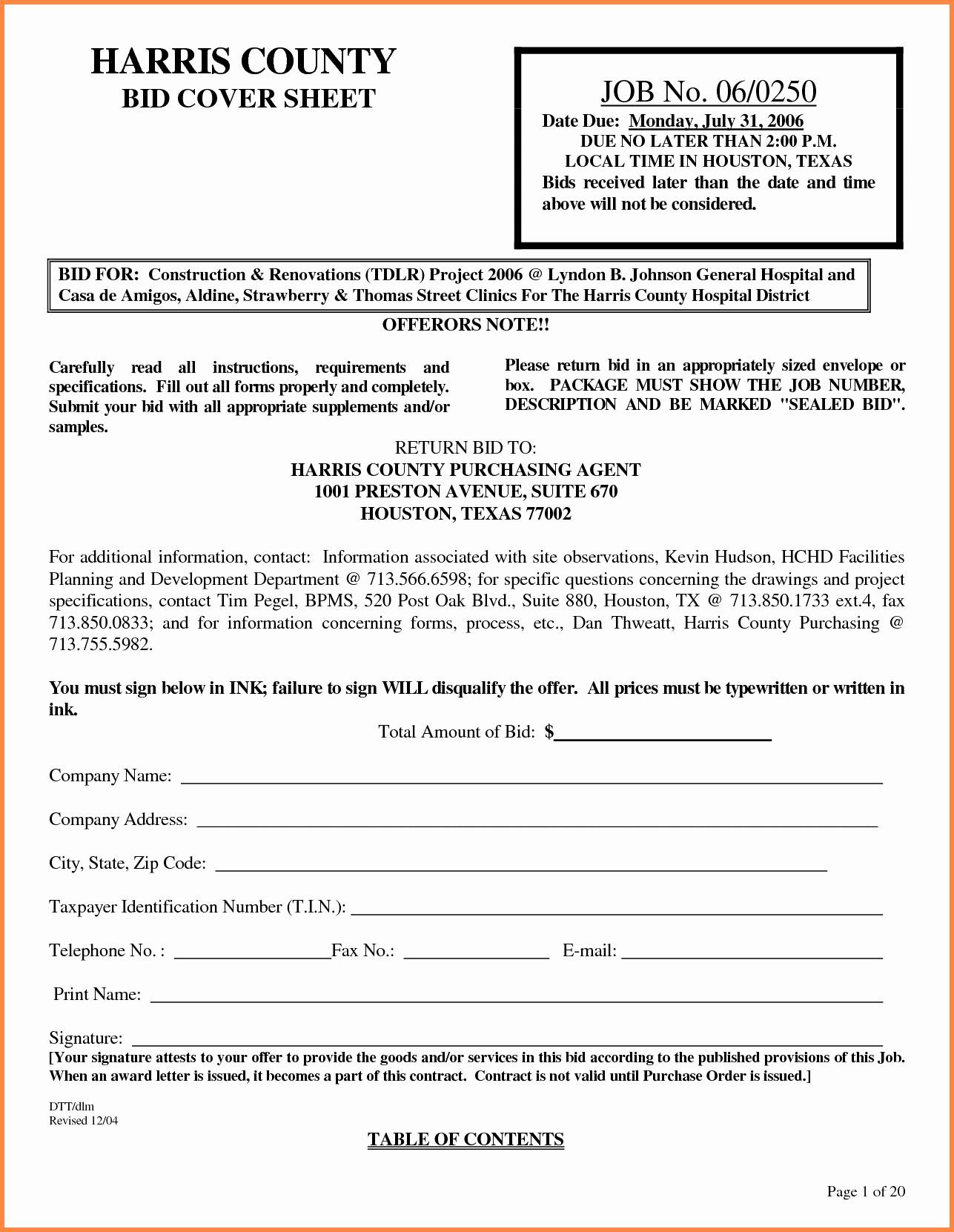 Example Of A Bid Proposal Beautiful Cover Letter Bid Proposal Sample