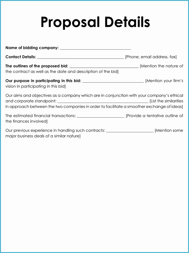 Example Of A Bid Proposal Best Of Bid Proposal Templates 8 Samples to Write Better Proposals