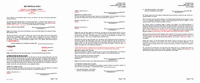 Example Of A Bid Proposal Unique Bid Proposal Template 6 Best Proposal Examples