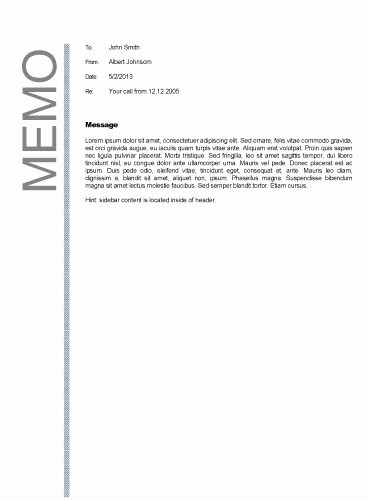 Example Of A Memo format Fresh Business Memo format Business Memos