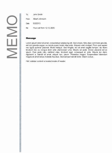 Example Of A Memo format Fresh Business Memo format Business Memos