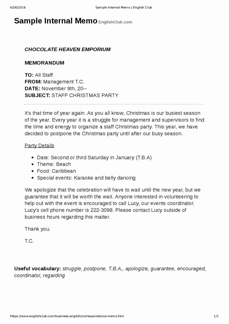 Example Of A Memo format Fresh How A Business Memo is Different From A Business Letter