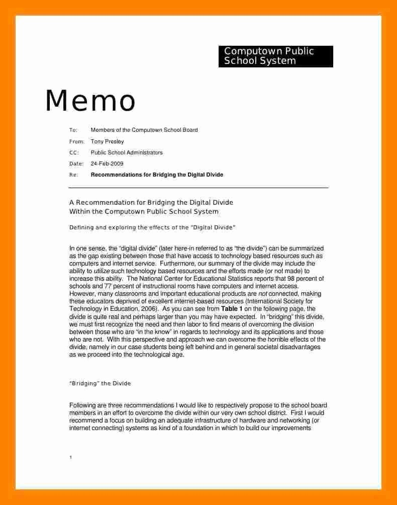 Example Of A Memo format Inspirational 8 How to Write Memorandum
