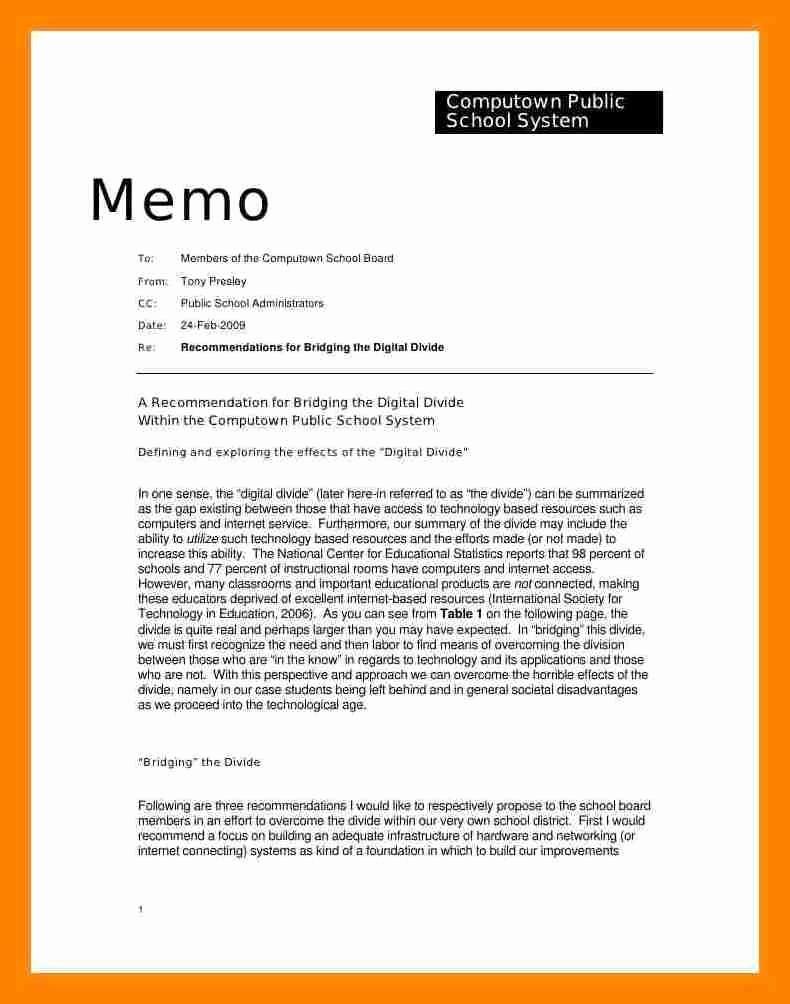 Example Of A Memo format Inspirational 8 How to Write Memorandum