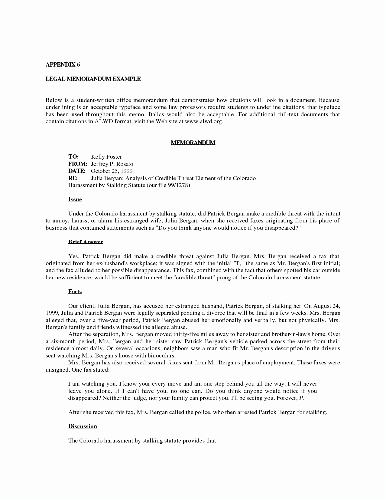 Example Of A Memo format Inspirational 8 Sample Legal Memorandum