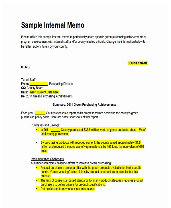 Example Of A Memo format Lovely 14 formal Memo Examples Samples