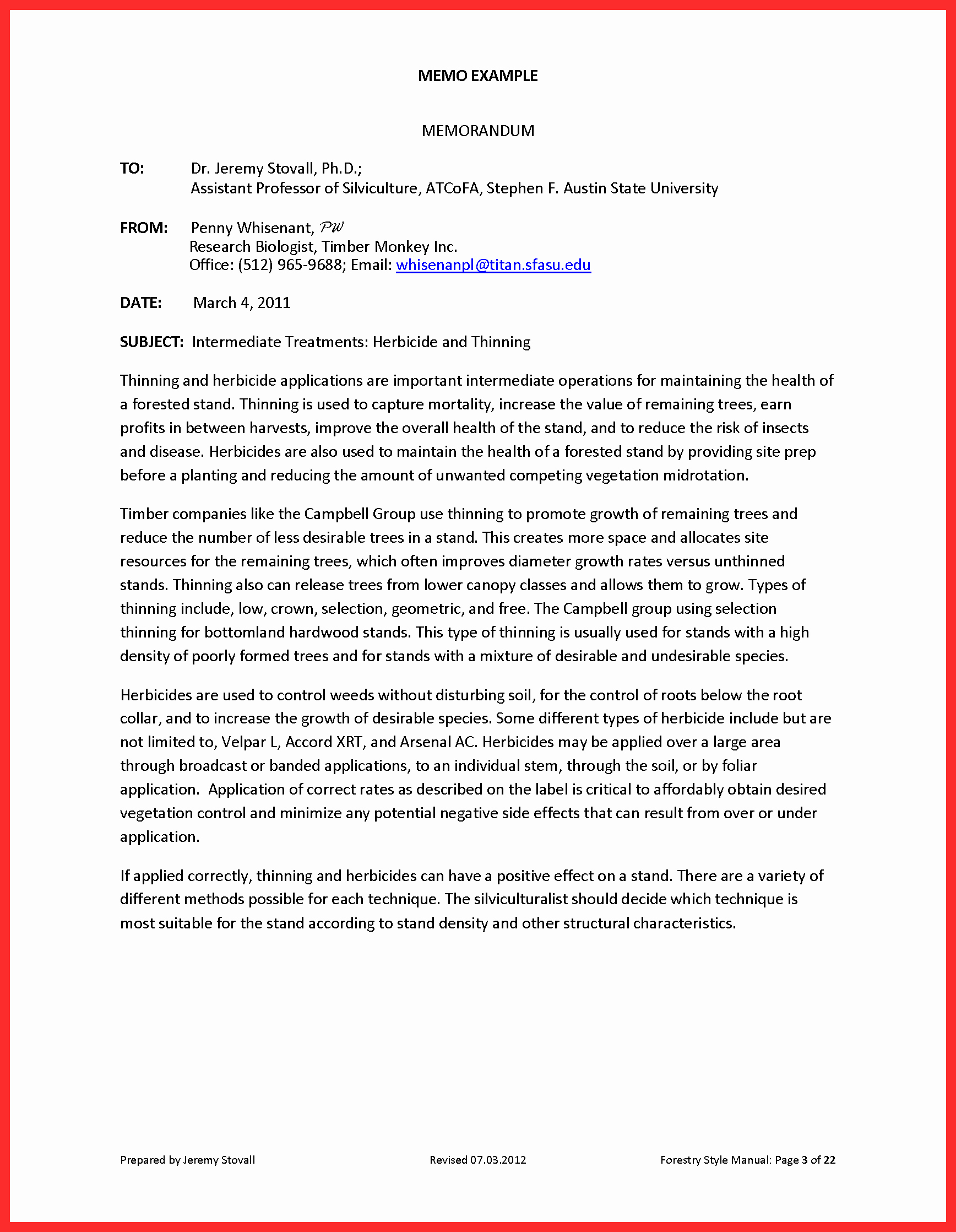 Example Of A Memo format Lovely Memo Style Template