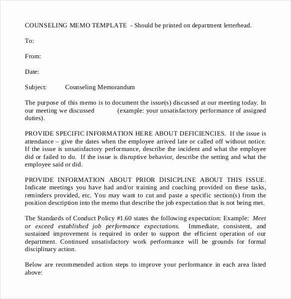 Example Of A Memo format New 22 Free Memo Templates – Free Sample Example format
