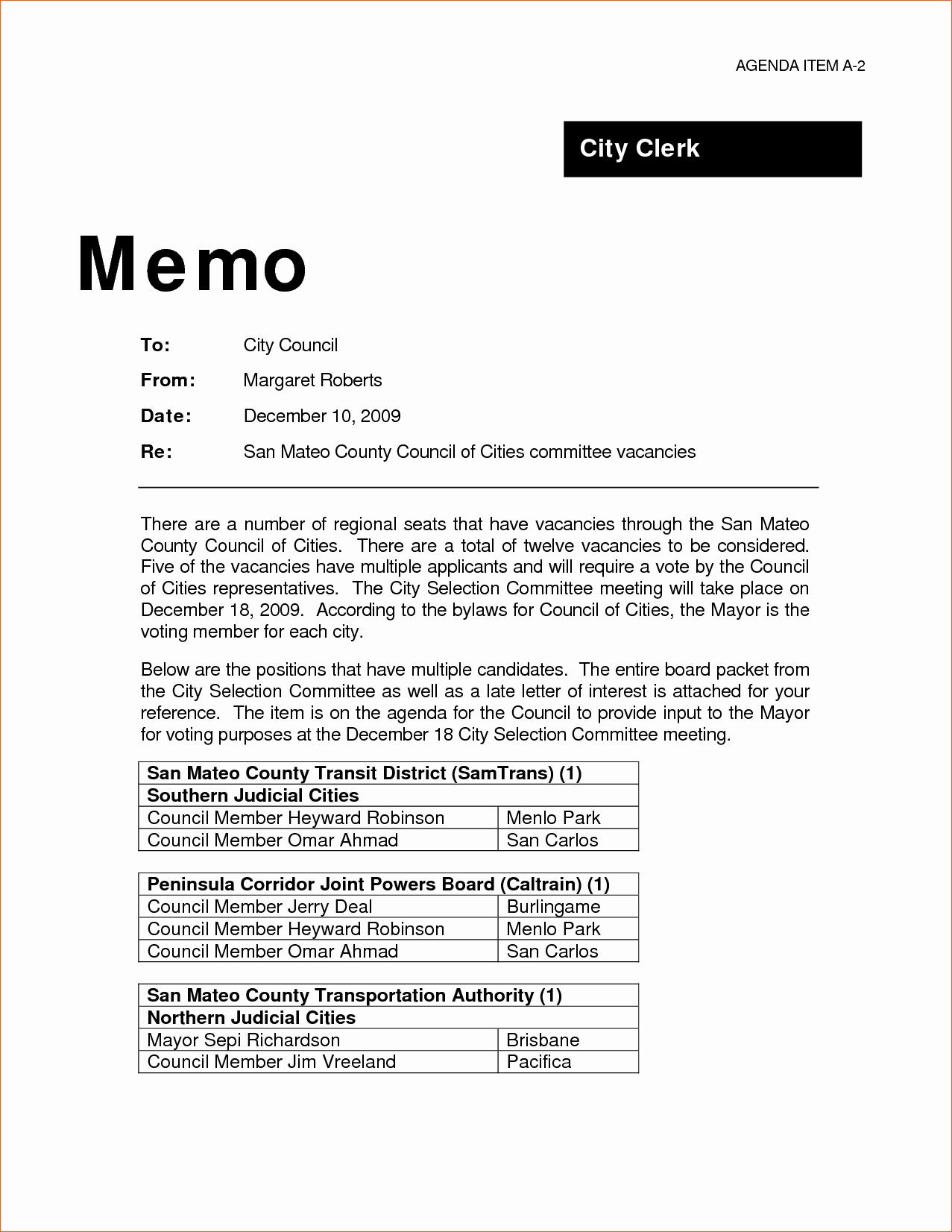 Example Of A Memo format Unique 9 Professional Memo Template