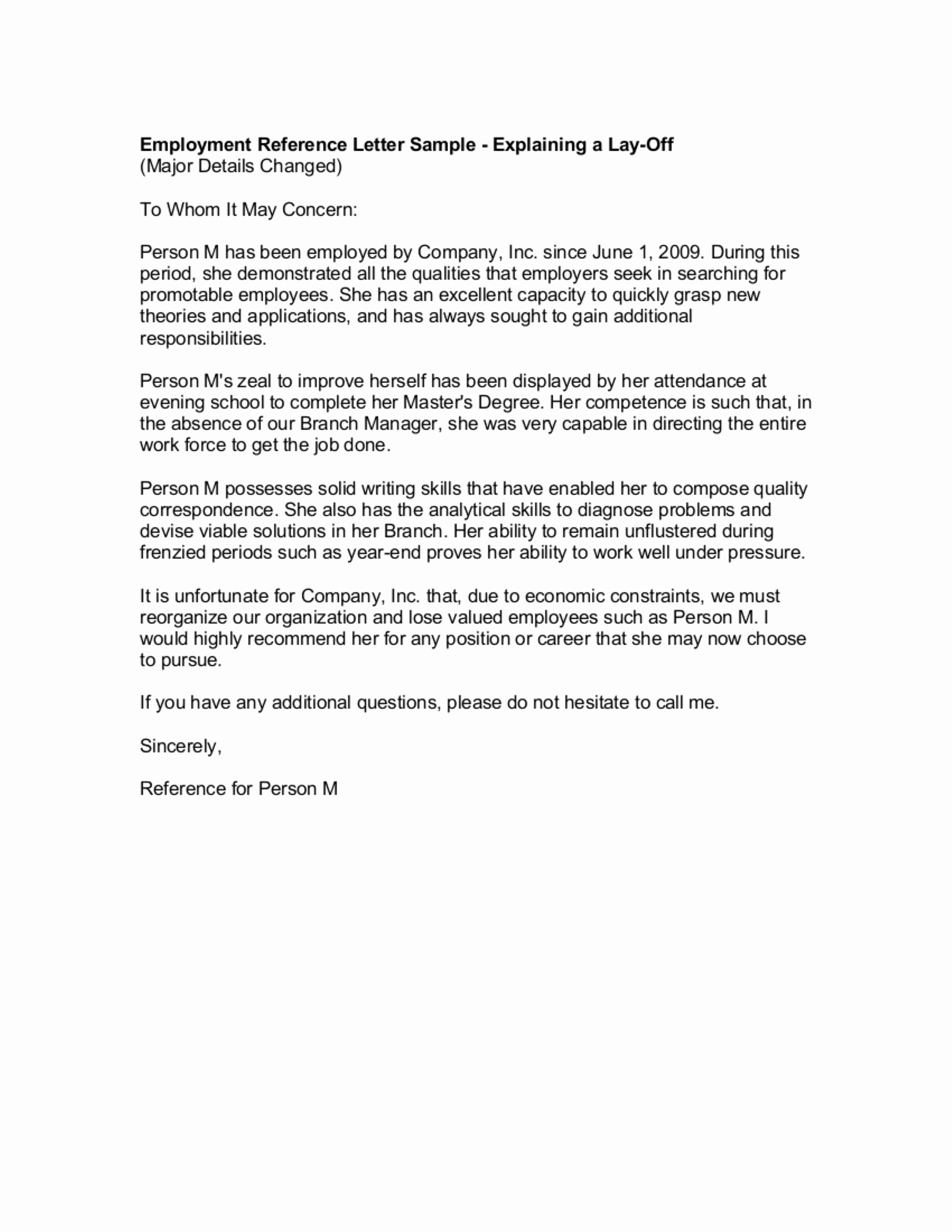 Example Of A Recommendation Letter Best Of 9 Reference Letter From A Previous Employer Examples Pdf