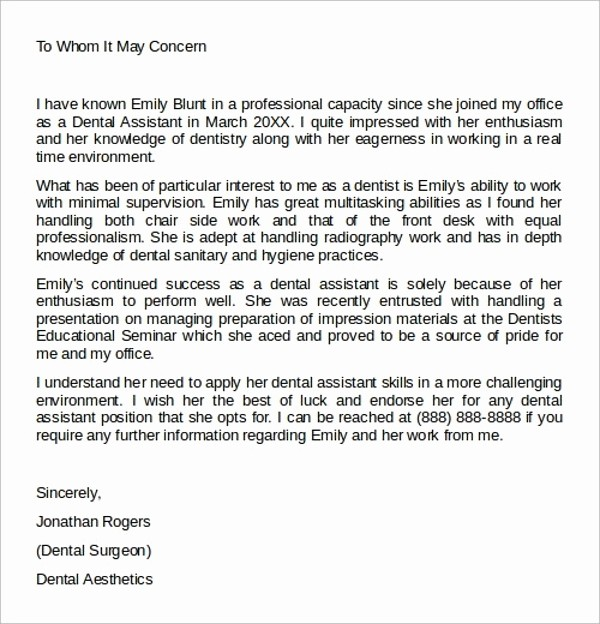 Example Of A Recommendation Letter Lovely 8 Administrative assistant Reference Letters – Pdf Word