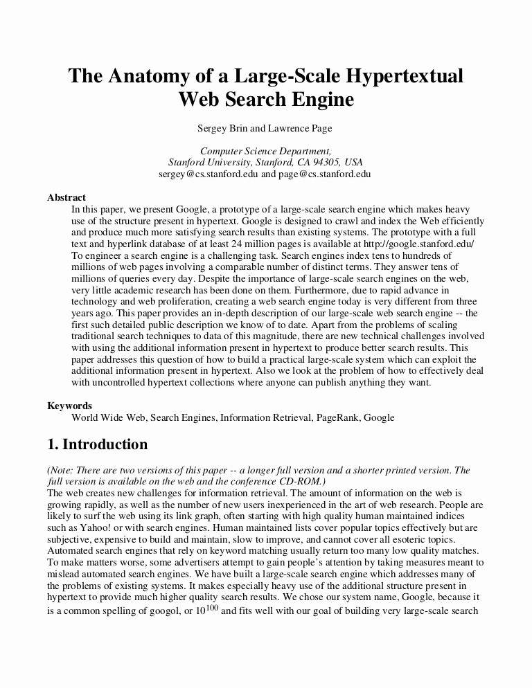 Example Of A Report Paper Awesome Google Research Paper