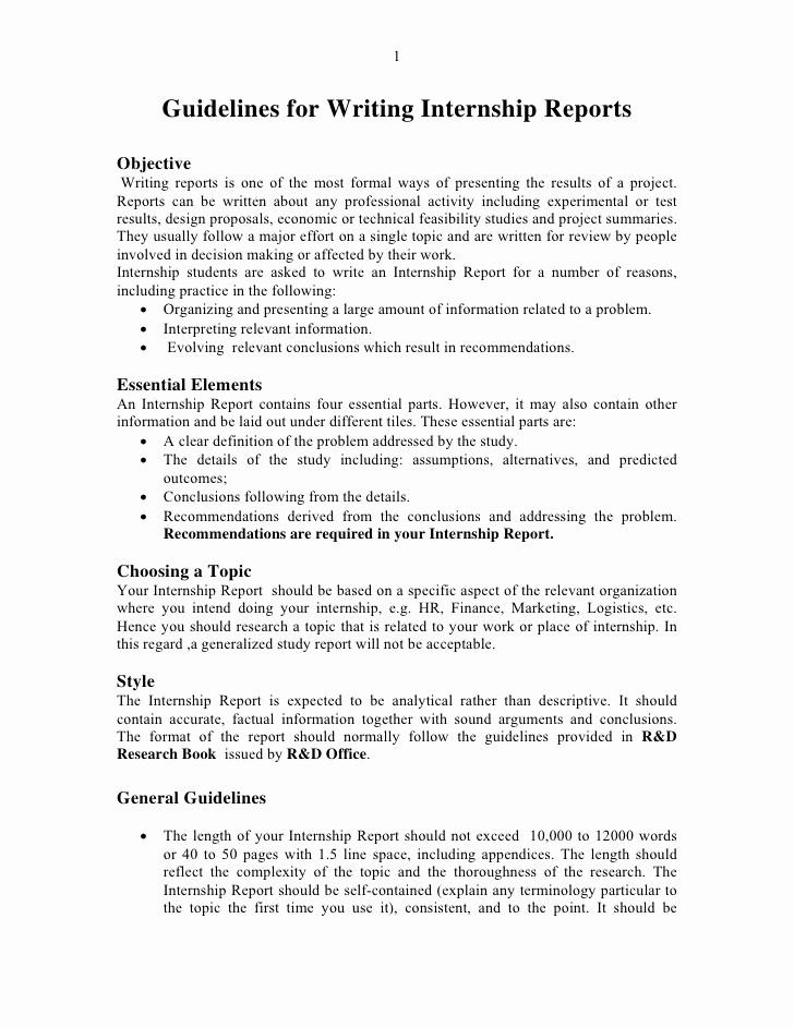 Example Of A Report Paper Elegant Report format