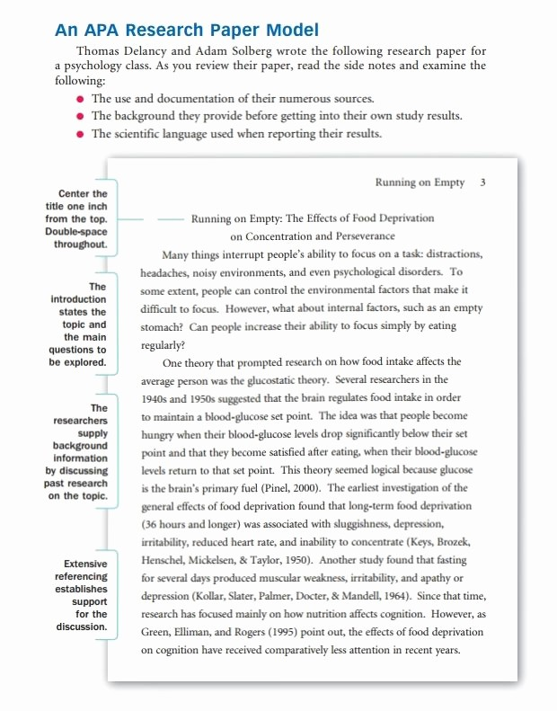 Example Of A Report Paper Inspirational How to Write A Research Paper Outline and Examples at