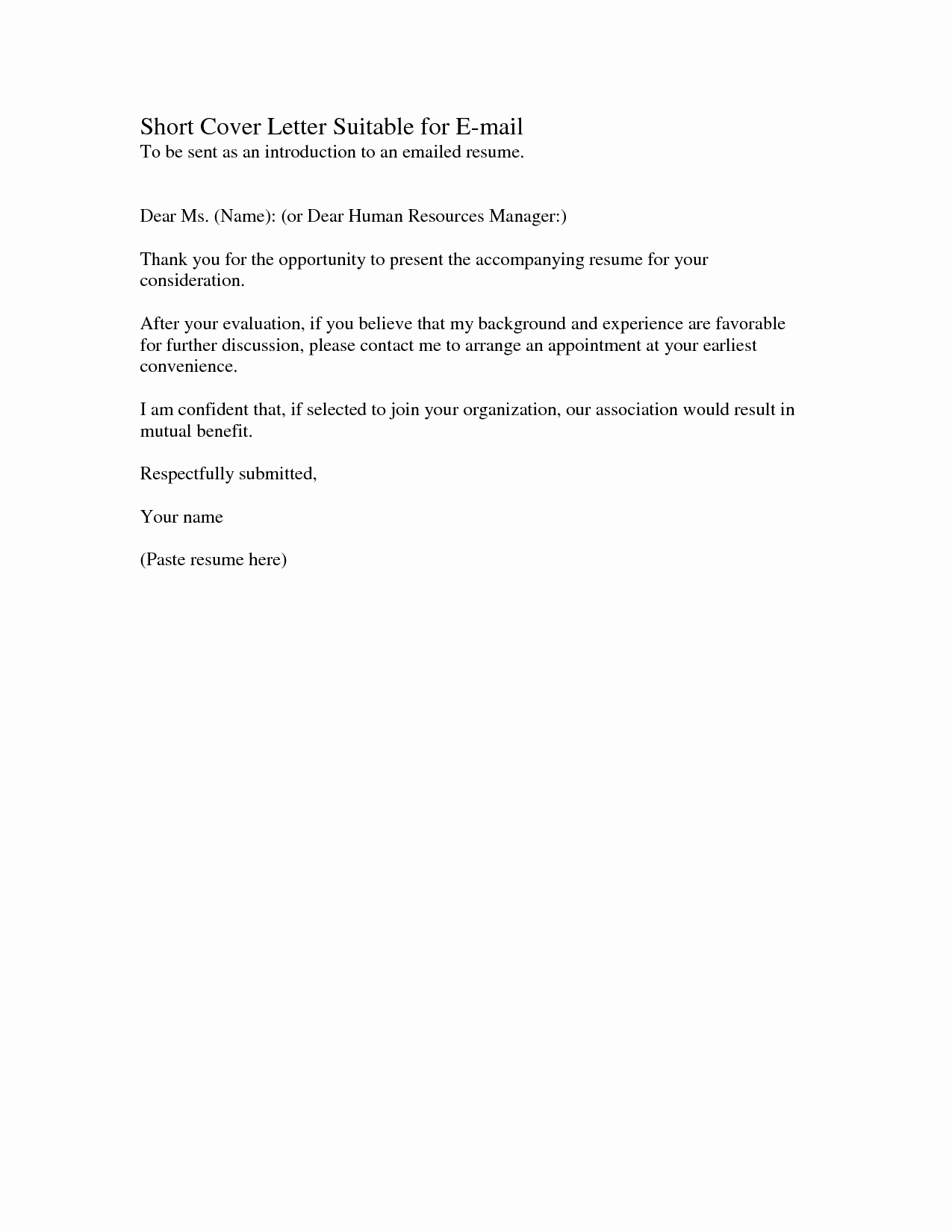 Example Of A Short Memo Awesome Short Cover Letters Examples
