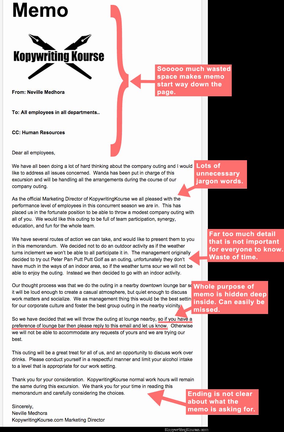 Example Of A Short Memo Beautiful How to Write An Effective Memo