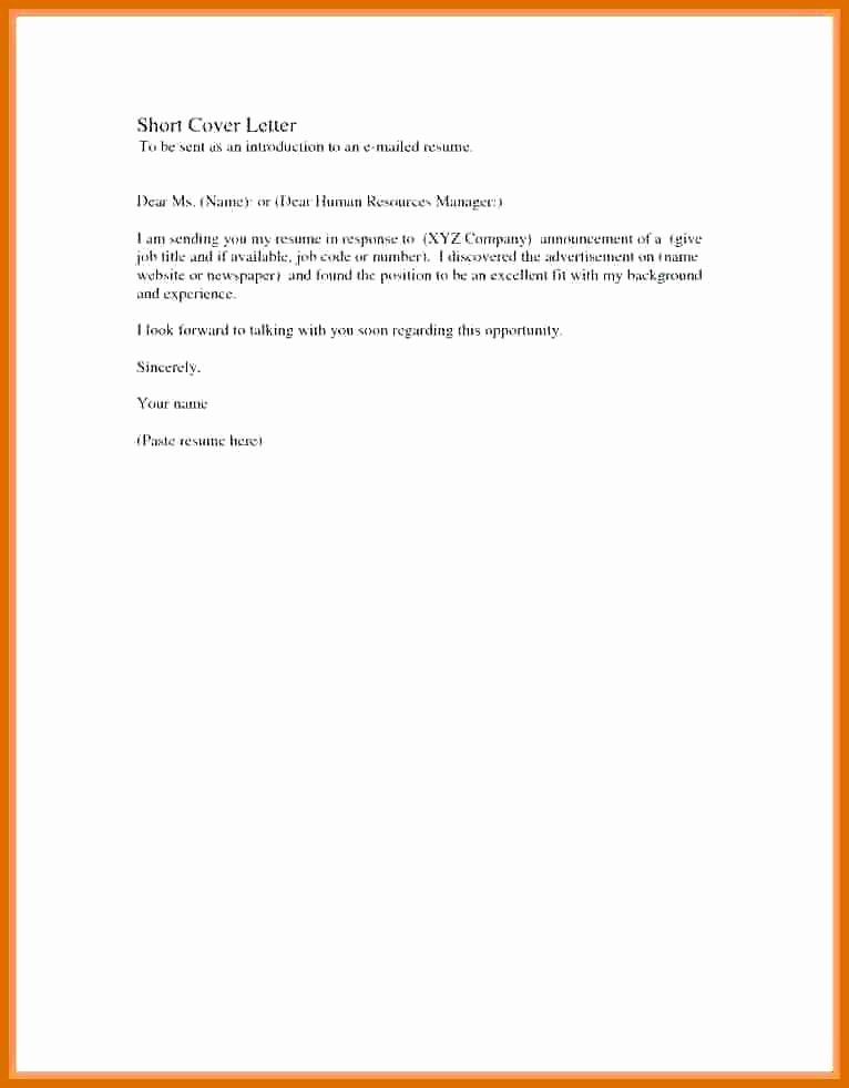 Example Of A Short Memo Luxury 5 6 Short Cover Letter Example