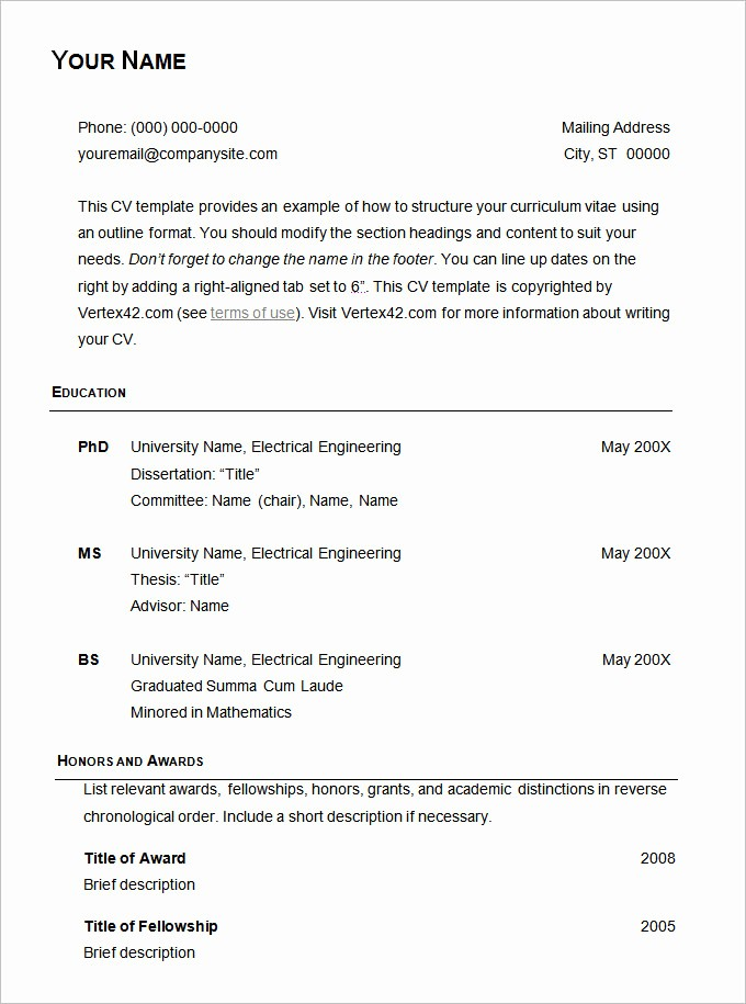 Example Of A Simple Resume Awesome 70 Basic Resume Templates Pdf Doc Psd