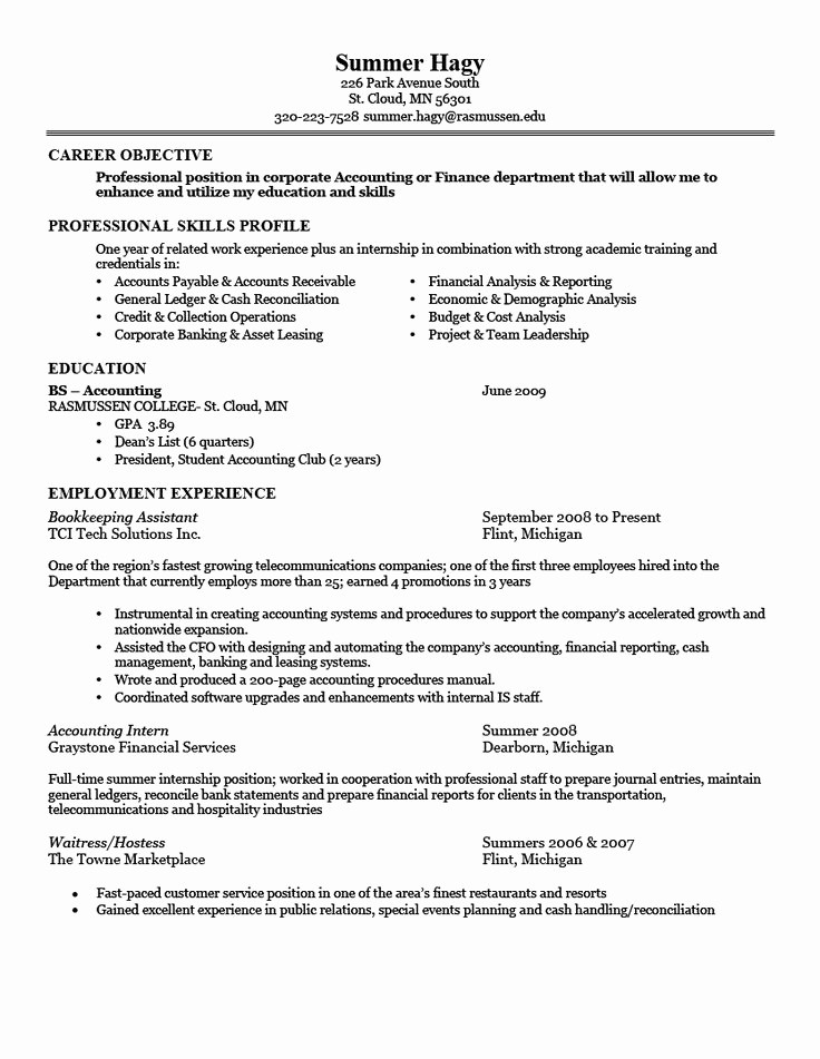 Example Of A Simple Resume Best Of 22 Best Basic Resume Images On Pinterest