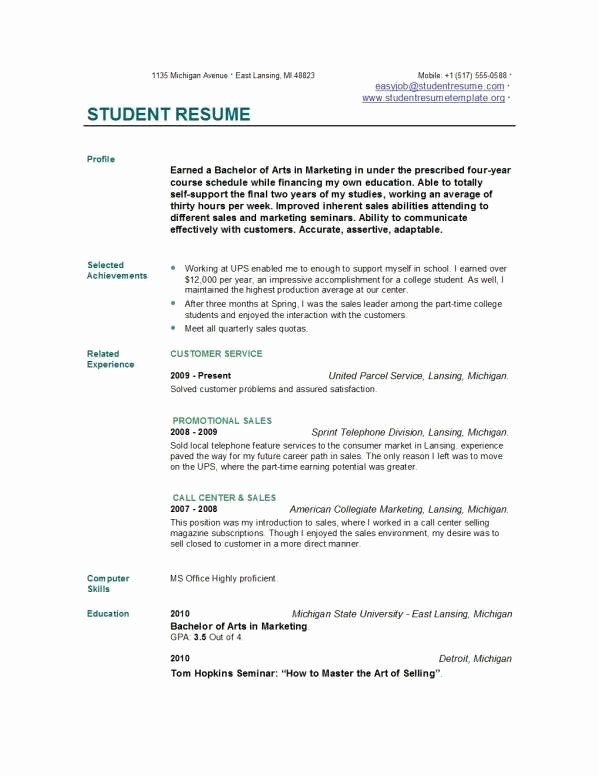 Example Of A Simple Resume Fresh Pin by Resumejob On Resume Job Pinterest