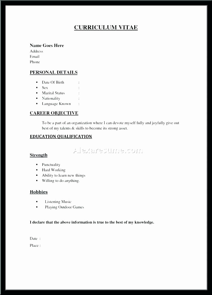 Example Of A Simple Resume Inspirational Resume formats and Examples – Putasgaefo