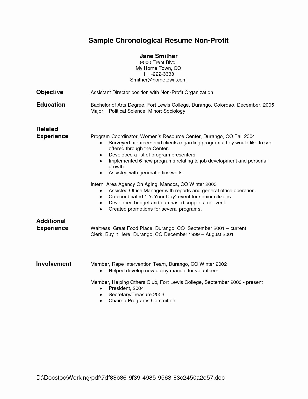 Example Of A Simple Resume Lovely Basic Resume Outline Template