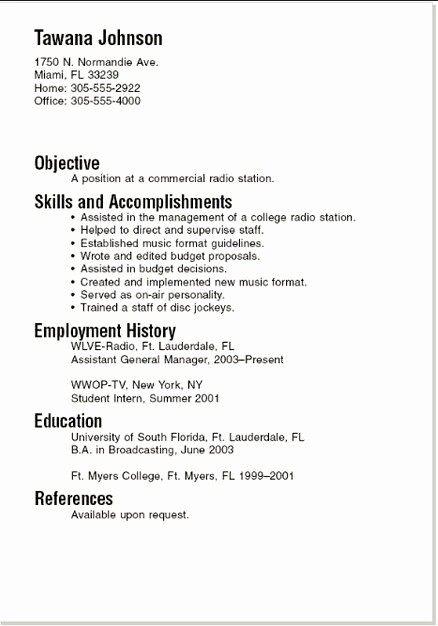 Example Of A Simple Resume Luxury Easy Resume Examples Best Resume Collection