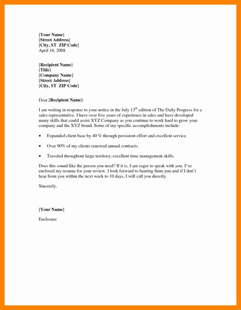 Example Of Basic Cover Letter Fresh Basic Cover Letter Samples Resume Template Easy