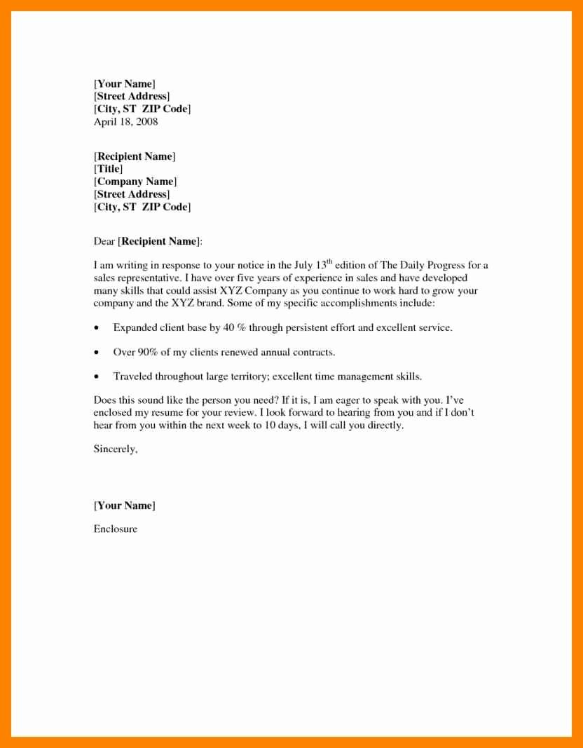 Example Of Basic Cover Letter Fresh Basic Cover Letter Samples Resume Template Easy
