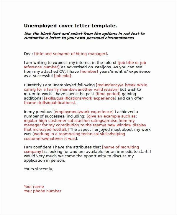 Example Of Basic Cover Letter Inspirational 8 Basic Cover Letter Samples
