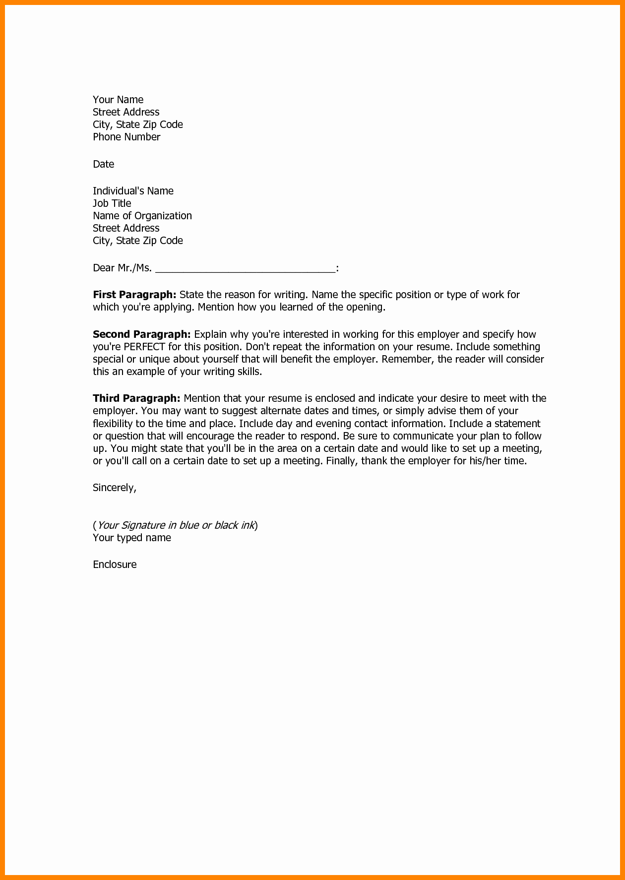 Example Of Basic Cover Letter Lovely 17 Sample Basic Cover Letter
