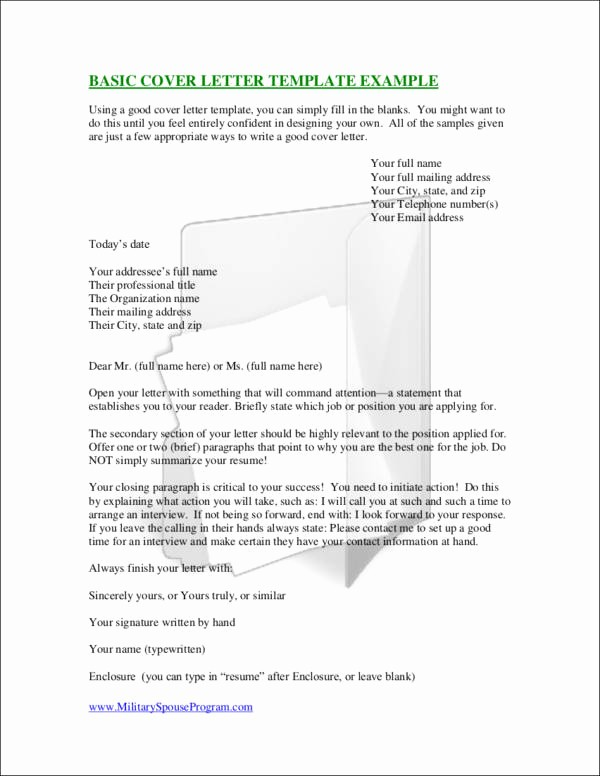 Example Of Basic Cover Letter Luxury Essential Elements Of A Cover Letter