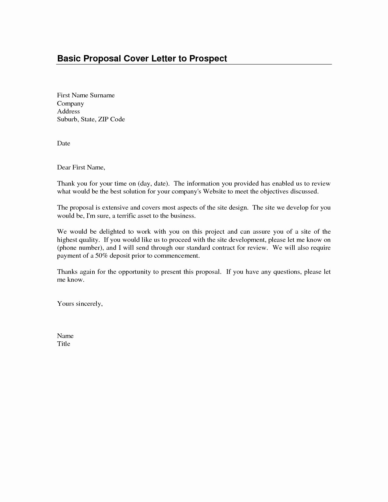 Example Of Basic Cover Letter Luxury Quick Cover Letter Template