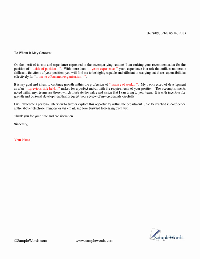 Example Of Basic Cover Letter Luxury Simple Cover Letter Template for Resume