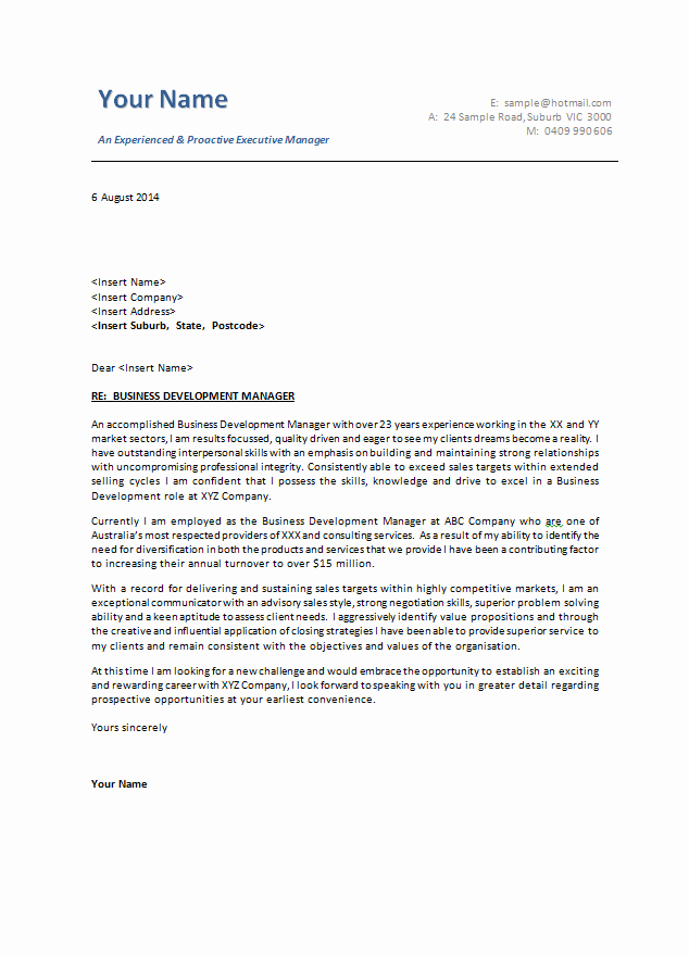 Example Of Basic Cover Letter New Cover Letter Examples