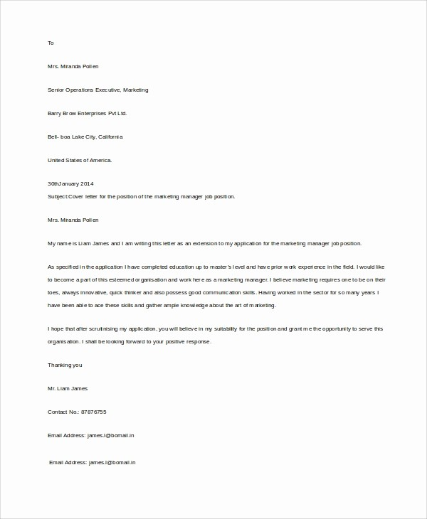Example Of Basic Cover Letter Unique 8 Basic Resume Examples