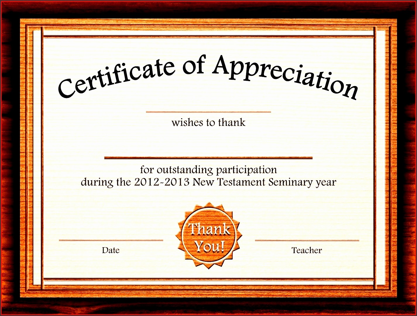 Example Of Certificate Of Appreciation Beautiful Blank Certificate Recognition Printable Vouchers