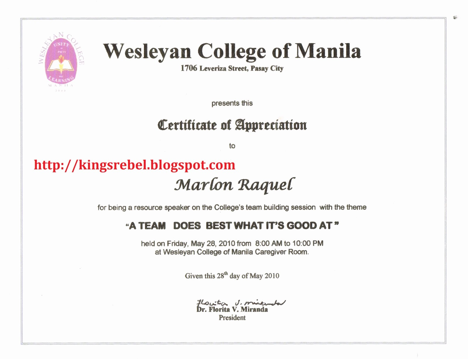 Example Of Certificate Of Appreciation Beautiful Tidbits and bytes 01 01 2011 02 01 2011