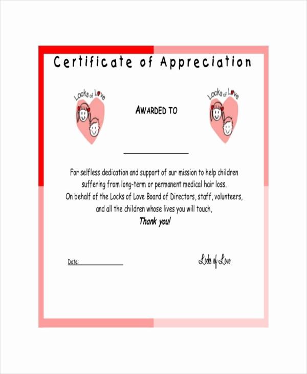 Example Of Certificate Of Appreciation Best Of 19 Certificate Of Appreciation Templates Free Sample