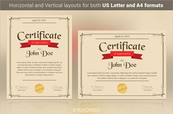 Example Of Certificate Of Appreciation Best Of 24 Sample Certificate Of Appreciation Temaplates to