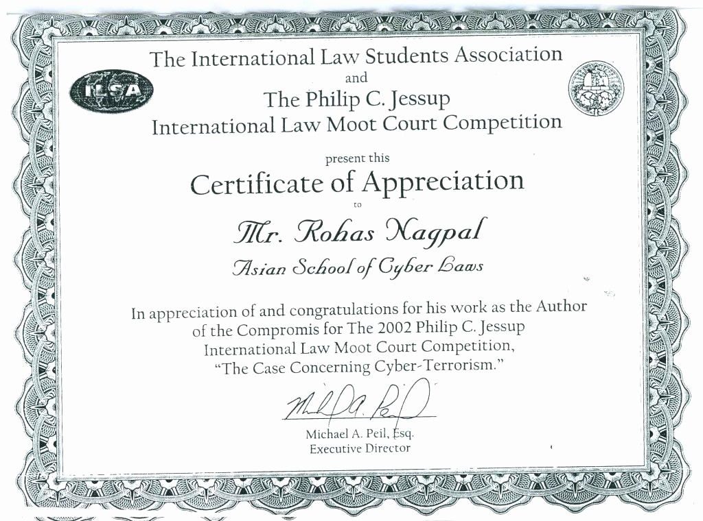 Example Of Certificate Of Appreciation Elegant Examples Certificate Recognition 8 Certificate