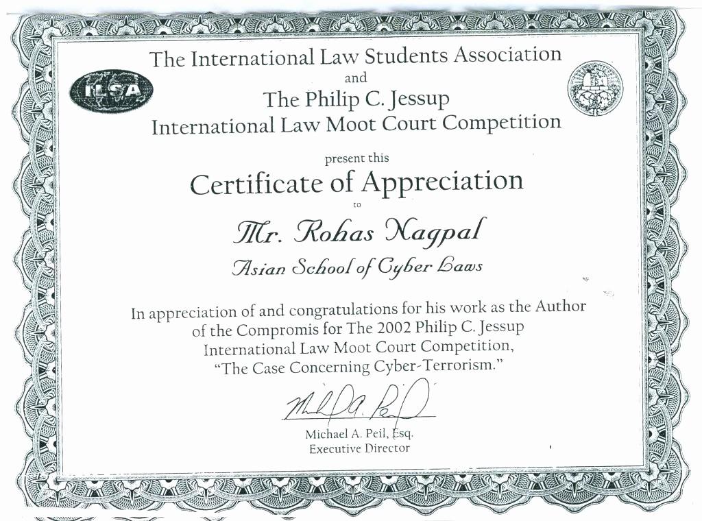 Example Of Certificate Of Appreciation Elegant Examples Certificate Recognition 8 Certificate