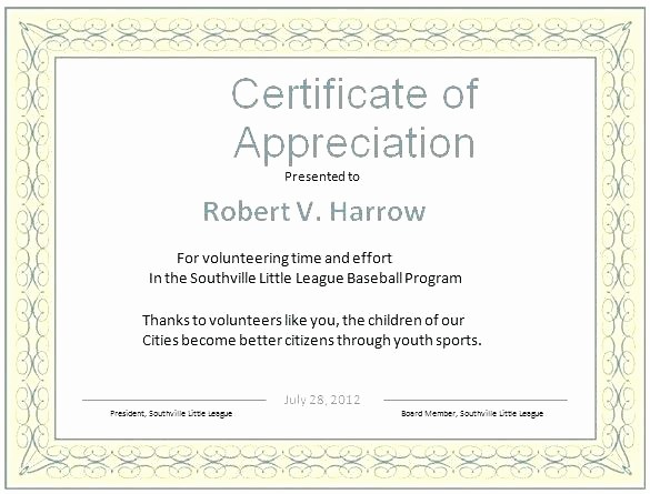 Example Of Certificate Of Appreciation Lovely Examples Of Certificates Of Recognition – Onwebo