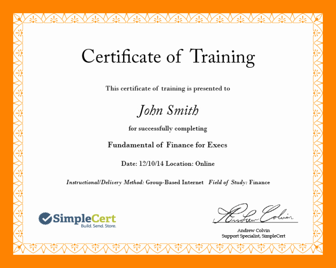 Example Of Certificate Of Appreciation Luxury 6 Examples Of Certificate