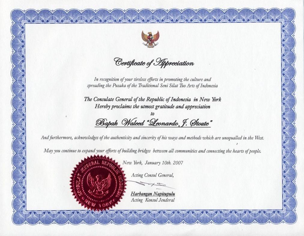 Example Of Certificate Of Appreciation Unique Certificate Appreciation Wording